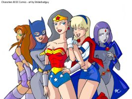 DC Supergirls-by striderbadguy by JLUClub