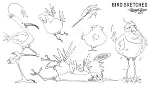 Sketch Dump Birds by Hobbit1978