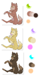 Wolf adoptables by schoes-manga