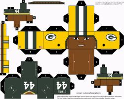 James Starks Packers Cubee by etchings13