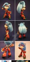 Purity the Hedgehog Sculpture by aachi-chan