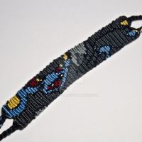 Luxray 1 inch Friendship Bracelet by CarrieBea