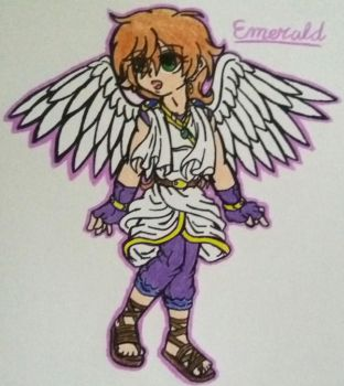 Emerald(My Kid Icarus OC:Redesign) by SnivyFennkinGirl