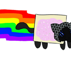 :COLLAB: Nyan Vector - CLICK THIS by Roselinath
