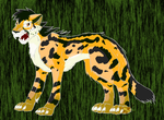 Dhakiya the King Cheetah by eeveelution-lover
