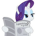 Rarity with Equestria Daily by ErisGrim