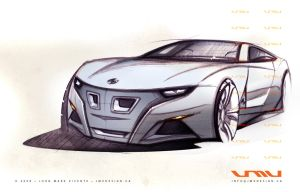 BMW Z4 Coupe Sketch by jmvdesign