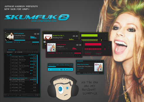 SKUMFUK 2 - Skin for AIMP3 by d1sapp3ar
