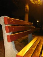 Red Bench by EchoTheDeath