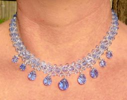Blue Princess Necklace by honeycombee