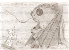 Gandalf vs Balrog by Love-Only-Knows