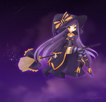 Halloween Sky Witch by Megiemu