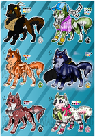 AUCTION -Wolf Canine Adoptable Batch 3- OPEN by Miapon
