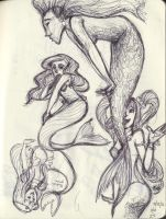 Mermaids, Mermaids Everywhere by pluie3et3grenouille