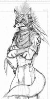 Anthrofox tribe fighter by WolfLSI