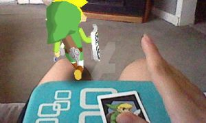 Toon link vs. me (aftermath) by victoriavaporeon