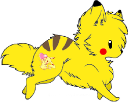 Pikachu Wolf Adopt -CLOSED- by Prettyxmouse