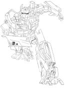 Optimus Prime Lineart by Padfoot-x