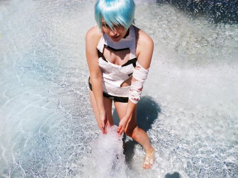 Rei goes swimming by Popt4rtCat