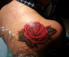 Rose tattoo by flaviudraghis