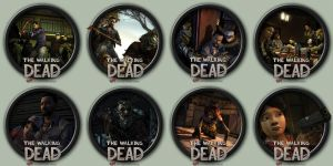 The Walking Dead Episodic Game Icons by kodiak-caine