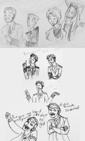 Cabin Pressure sketches by artemisrox
