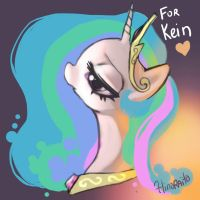 Sketch 20 - MLP Celestia - For Kein by hinoraito