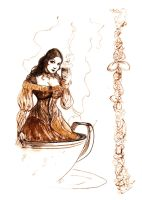 Coffee Girl... by BlueMillenium