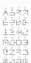 Hollowed Alphabet v1.0 by Kabiscube