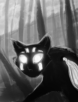 cats and woods by Ganja-Shark