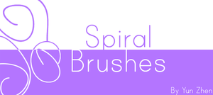 Spiral Photoshop Brushes by Yun-Zhen