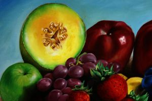 Fruits Oil Painting detail. by wbmstr