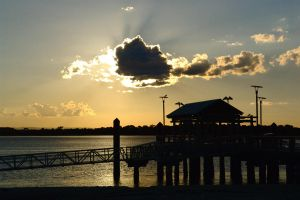 Bongaree Jetty silhouette 2 by wildplaces