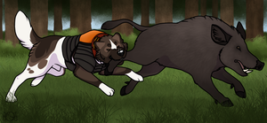 WBH1 Koketsu Inu Boar Hunting by EverlastingStables
