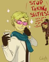 But first...lemme take a selfie. by CassieRedPanda