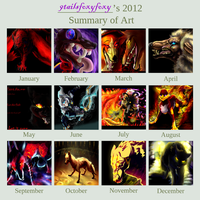 2012 Art summary by 9tailsfoxyfoxy
