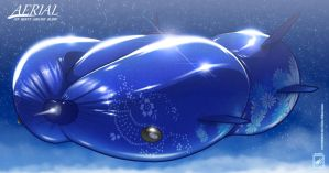 Aerial busty Blimp_solo in the Night Sky :3 by wsache007