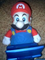 Mario plush plays DS by Eye-of-Kaiba