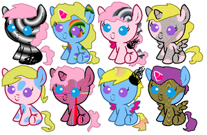 Princess Ubutt/Pastel Patch Foals OPEN by cela08