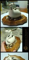 Dragon Hatchling Sculpture: White Gold by Nightlyre
