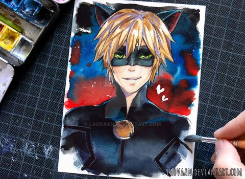 Cat Noir - Miraculous Ladybug by Laovaan