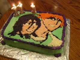 IchiRuki Cake by otaku-drea