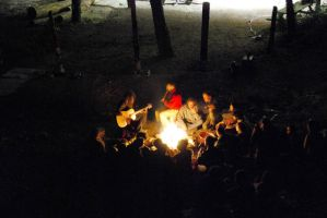camp fire by erdal