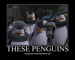 Penguins Motivational Poster by Trainguy