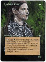 Magic the Gathering Alteration: Fyndhorn Elves by Ondal-the-Fool