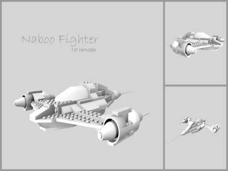 Naboo Fighter uncoloured by incarnateddevotion