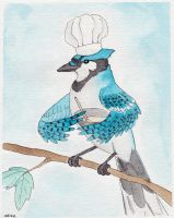Chef Blue Jay by IckyDog