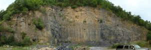 Rock quarry pano by foundry-wolf
