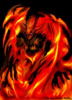 Dark Ifrit. by shiprock