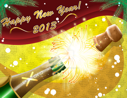 Exoro Choice's 2013 New Year Wishing Cards 14 by ExoroDesigns